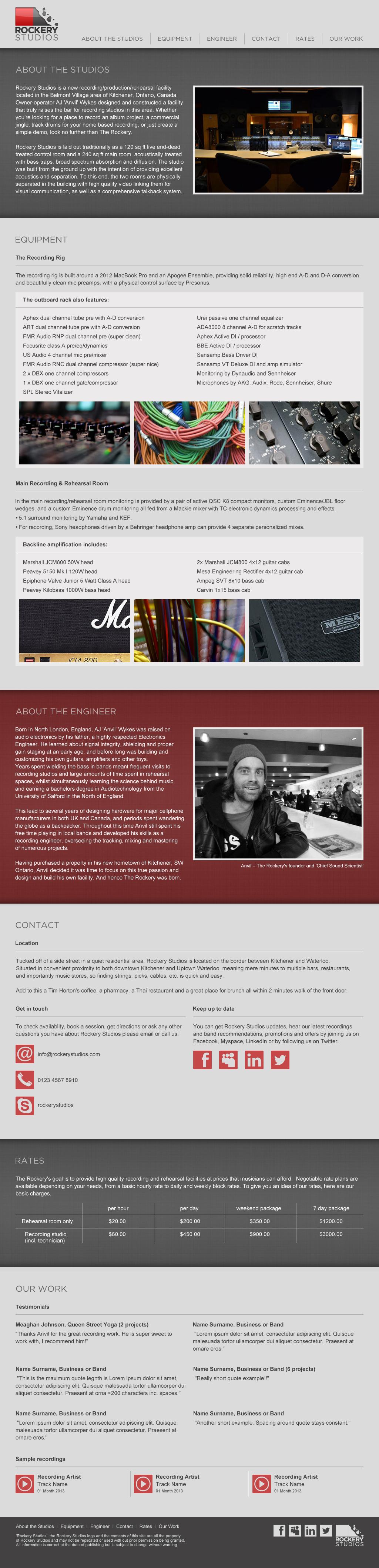 Rockery Studios site